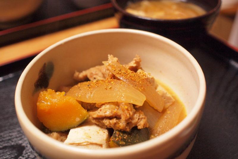 大豆ミートの肉豆腐