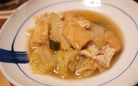 白菜とうすあげの煮浸し